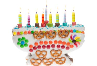 Linda's Sweet Menorah Gingerbread Kit 1