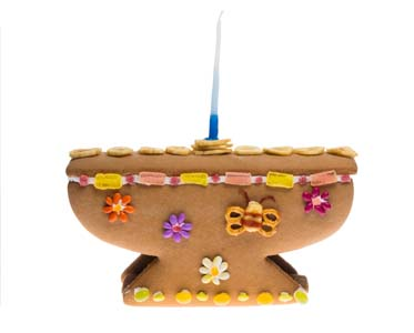 Linda's Sweet Menorah Gingerbread Kit 3